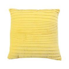 Room Essentials® Velvet Ribbed Toss Pillow - Yellow (18x18