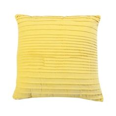 Velvet Ribbed Solid Yellow throw pillow, $15 from Target.com.  Love this!