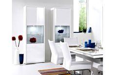 Vitrine blanche laquée - Meuble de salon - Meuble et Canapé.com Laque, Ikea, House Design, Cabinet, Storage, Furniture, Creative, Home Decor, White Hutch