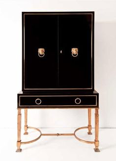 2940s lacquer cabinet by Ramsay