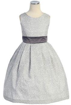 Rose Jaccard Sleeveless Dress