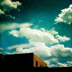 Santa Fe sky, so perfect.