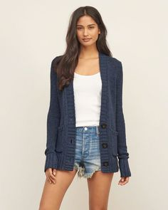 Womens Boyfriend Cardigan- love for weekend (diff color even though I like the blue- I have so much blue)
