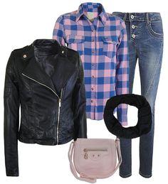 Blue/pink plaid shirt