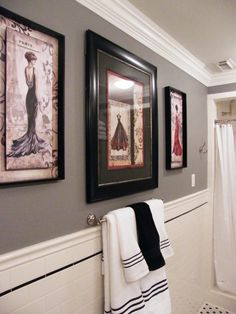 Vintage With Parisian Flair! Black U0026 White French Bathroom, Master Bathroom,  1920s Bathroom