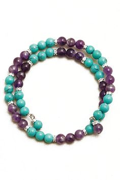 Rondelles Amethyst Turquoise Bracelet | Awesome Selection of Chic Fashion Jewelry | Emma Stine Limited