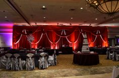 Colonial Events: Custom Velour Backdrop at Penna's