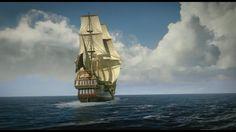 "Captain Flint's Galleon ""Walrus"" - screenshot from the tv series Black Sails"