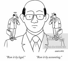 """""""Run it by legal."""" """"Run it by accounting. Political Cartoons, Funny Cartoons, Alex Gregory, Business Cartoons, New Yorker Cartoons, Business Presentation, Print Magazine, The New Yorker, Accounting"""