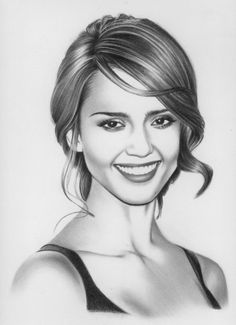 Jessica alba by hong-yu faces in 2019 pencil drawings, art. Pencil Portrait Drawing, Portrait Sketches, Portrait Paintings, Art Drawings Sketches, Portrait Art, Cartoon Drawings, Pencil Drawings, Realistic Face Drawing, Human Face Drawing
