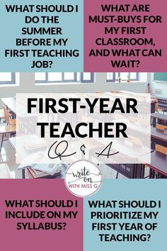 First-Year Teacher: Your Questions, Answered! - Write on With Miss G