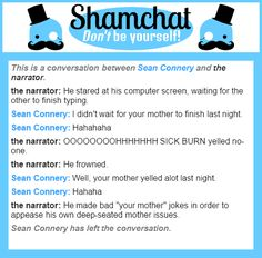 A conversation between the narrator and Sean Connery