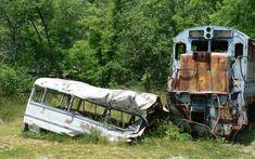 The Fugitive Bus Scene in Dillsboro, North Carolina