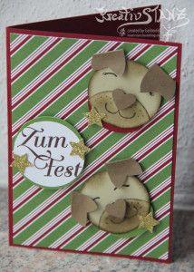Mopsige Weihnachten Punch Art Stampin Up