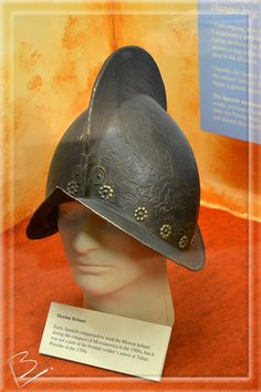 Morion Helmet worn by Spanish Conquistadors, Tubac Presidio, Arizona