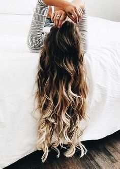 40 Ideas Hair Color Brown Balayage Stylists For 2019 Brown Ombre Hair, Ombre Hair Color For Brunettes, Brown Blonde, Long Wavy Hair, Short Wavy, Wavy Perm, Long Ombre Hair, Long Curly, Cool Hair Color