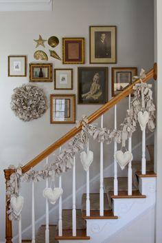 Woven Home: Canvas Heart Garland    I am going to do this only in reds and pinks.
