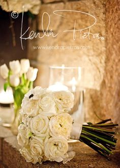 david austin roses & black and white anemones  www.sweetestthingweddings.com  photo by- kendra pietras