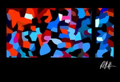 Buntes Bild 1a - Computergrafik - Künstler: Reinhard Schäffler