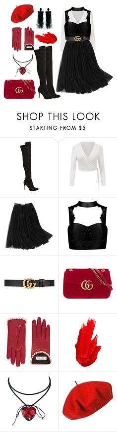 """""""High Heels"""" by sandypuni ❤ liked on Polyvore featuring Charles by Charles David, WithChic, Gucci, Maybelline, Betmar and Oscar de la Renta"""