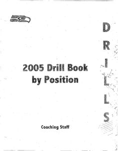 2005 Seattle Seahawks Drill Book - Mike Holmgren