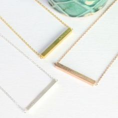 Personalised Horizontal Bar Necklace - best sellers