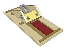 chisel and plane iron sharpening jig