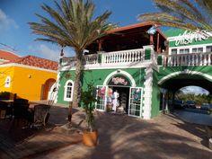 Colorful shops near the Radisson in Aruba