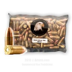MBI 9mm Ammo - 1000 Rounds of 124 Grain FMJ Ammunition