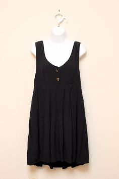 Vintage 90s Express Black Pleated Gauze Jumper Dress Size M #Express #EmpireWaist #SummerBeach