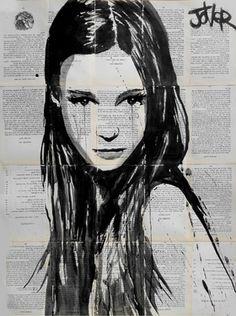 "Saatchi Online Artist Loui Jover; Drawing, ""godiva"" #art"