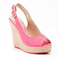 Pink Wedge With Buckle.