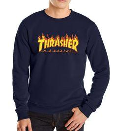 2017 new autumn winter funny hoodies sweatshit harajuku fashion thrasher  sweatshirt hip hop fleece brand trasher men sweatshirts c9283bcbe785