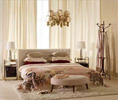 Sophisticated mix of vintage and new #bedroom