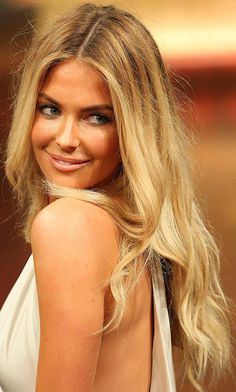 Jennifer Hawkins Long Center Part  Jennifer Hawkins wore her hair long and tousled while walking the runway at the Myer A/W fall 2012 fashion show.