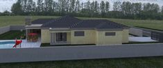3 Bedroom House Plan - My Building Plans My Building, Building Plans, Tuscan House Plans, Garage House Plans, Double Garage, Bedroom House Plans, Open Plan Living, Living Area, Mlb
