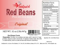 Red Beans Powder with Whole Beans (Original) 32oz