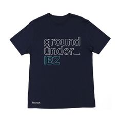 Image of Limited Edition IBZ Underground T Shirts in Navy Mens Only Small left