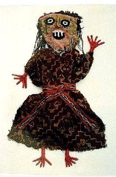 """Estas """"muñecas"""" chancayanas eran confeccionadas partiendo de armazones de junco, y se las forraba con hilos de colores y se las vestía con ..."""