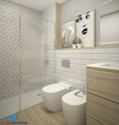 Diseño de baño: Baños de estilo moderno de Grupo Inventia Simple Bathroom Designs, I Love House, Bathroom Trends, Bathroom Interior Design, Amazing Bathrooms, Bathroom Inspiration, Home Deco, Small Bathroom, Bathroom Lighting
