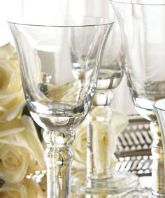 The perfect newlywed gift, or item for your own bar, the Vietri  Puccinelli Glassware Collection transforms any event into a sophisticated one.