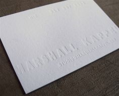 all white business cards