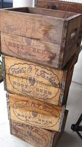 Image result for old time beer crates