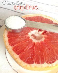 Healthy Grapefruit Snack! Grapefruits are back in season! Love this Healthy Dessert Recipe!