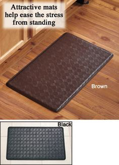 chef mat ~  Saw something similar to this at Sam's Club yesterday - Only $20  Great for extended standing on the tile floor