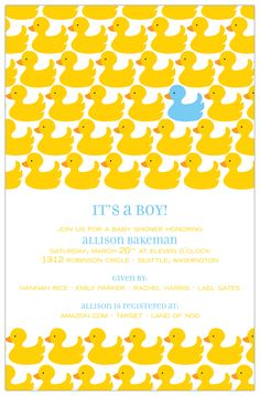 ducky invitation!