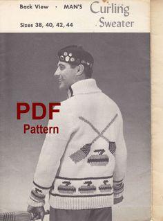 Curling Sweater Knitting Pattern PDF