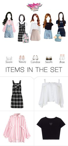 """""""Heroine Arriving at KBS Music Bank [Heartbeat (Boom-ba-doom)]"""" by heroine-official ❤ liked on Polyvore featuring art"""