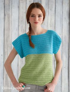 Free crochet pattern top for beginners