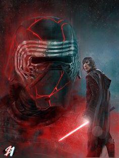 Kylo Ren Wallpaper, Star Wars Wallpaper, Star Wars Kylo Ren, Star Wars Fan Art, Star Wars Characters, Star Wars Episodes, Sean Miller, Disfraz Star Wars, Cuadros Star Wars